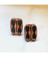 Vintage Renoir Copper And Enamel Earrings - $28.93