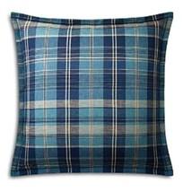 Ralph Lauren European Pillow Shams set 2 Artisan loft plaid blue New - $71.99