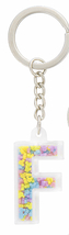 Disney Parks Mickey Mouse Bead Letter F Initial Keychain NEW - $15.90