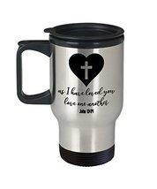 Religious Love One Another John 13:34 14 oz Stainless Steel Travel Mug Gift - $19.99