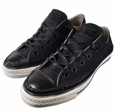 Converse by John Varvatos Chuck Taylor OX SUEDE LEATHER Sneaker BLACK 15... - $70.00
