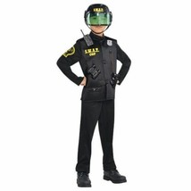 Police Swat Officer Boys Child Large 12-14 Deluxe Costume - $53.45
