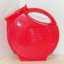 Vintage 1950's Burrite Burroughs Art Deco Red Plastic Pitcher - $20.00