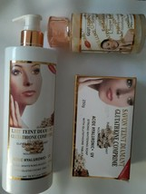 Glutathione Comprime Super fort combo:, Soap, Serum, lotion - $89.10