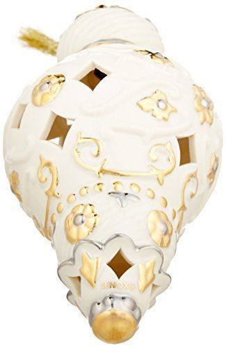 Lenox 2016 Annual Spire Ornament Gold & Ivory Egg Shell Pierced Christmas NEW
