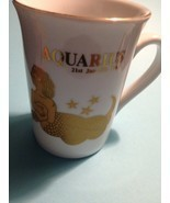 AQUARIUS Zodiac Vintage 24K Gilt Gold Porcelain MUG - Jan 21 to Feb 19 - $20.00