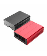 Black/Red Aluminum Alloy Protective Enclosure Case For Raspberry Pi 3 Mo... - $20.27