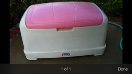 Vintage LITTLE TIKES GIANT TOY CHEST BOX Pink PICK UP ONLY!!!!! - $70.13