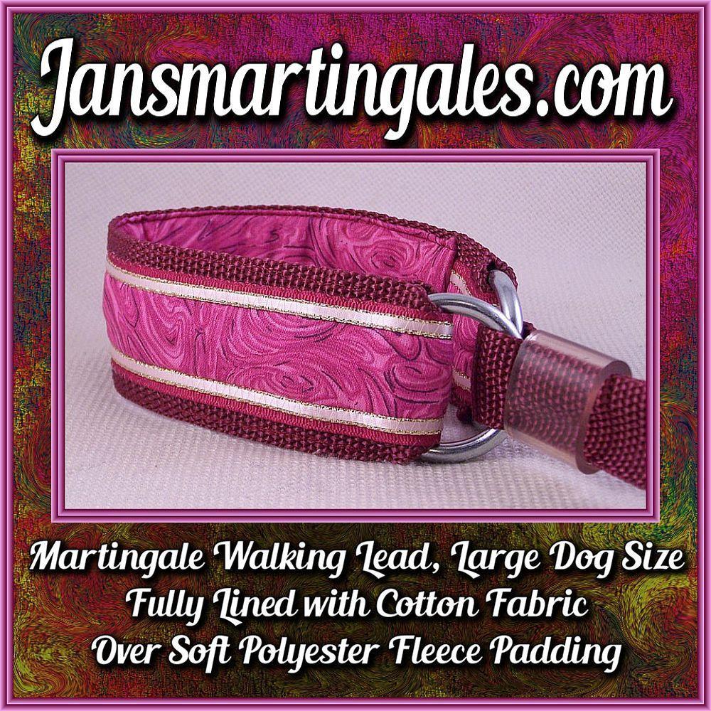 Jansmartingales, Martingale Collar/Leash Combination, Large Dog Size, bur125