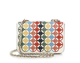 NWT Tory Burch New Ivory Small Robinson Embroidered Messenger/Crossbody Bag - $324.72
