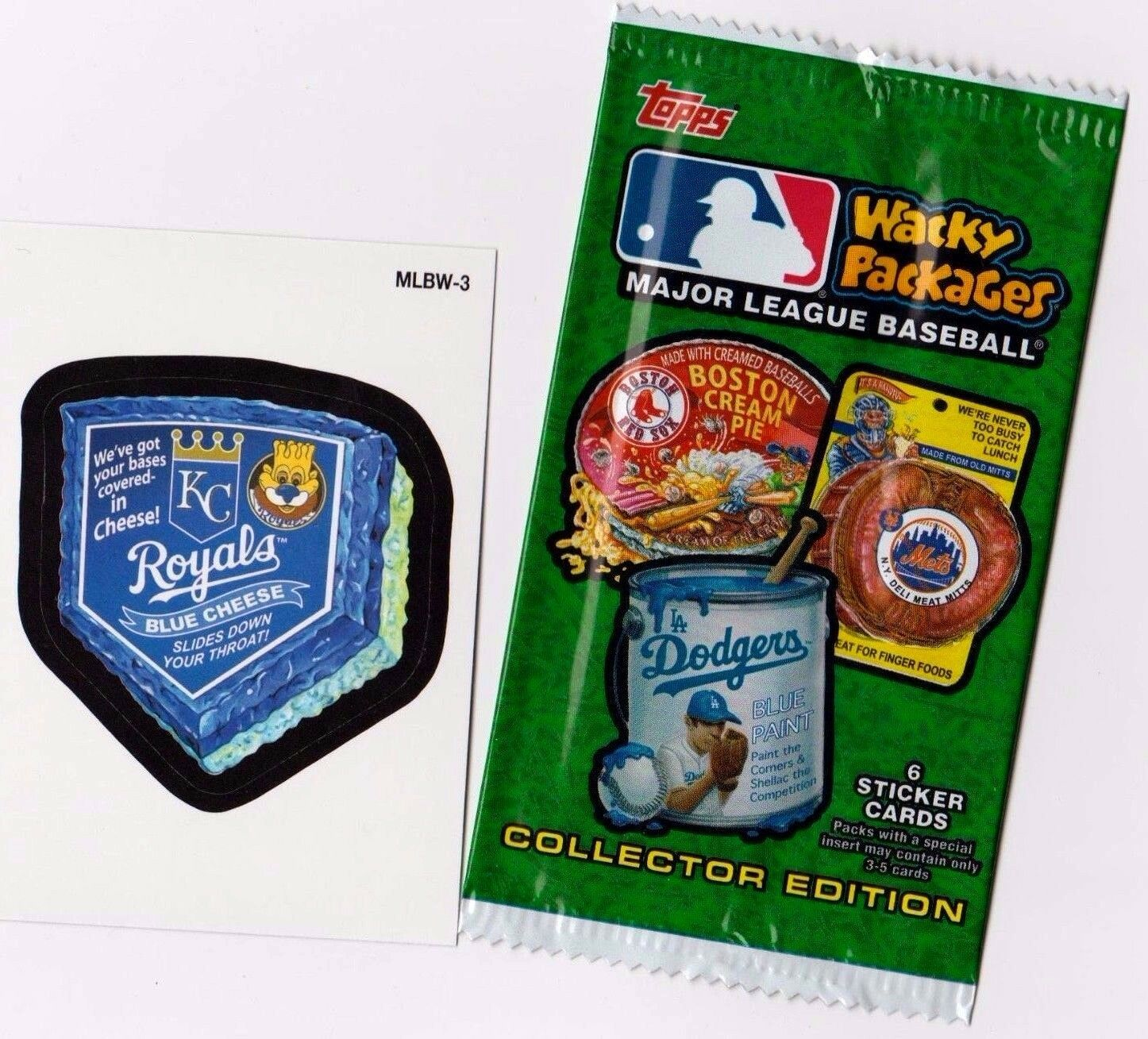 "2016 Wacky Packages Baseball Series 1 ""KC ROYALS CHEESE"" Promo Sticker MLBW-3"