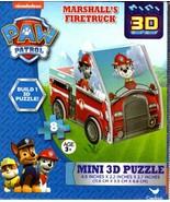 Nickelodeon Paw Patrol - Marshalls Firetruck - 8 Mini 3D Puzzle - $14.84
