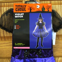 Violet Witch Halloween Costume Purple Dress Hat Totally Ghoul Girls Size Small - $12.82