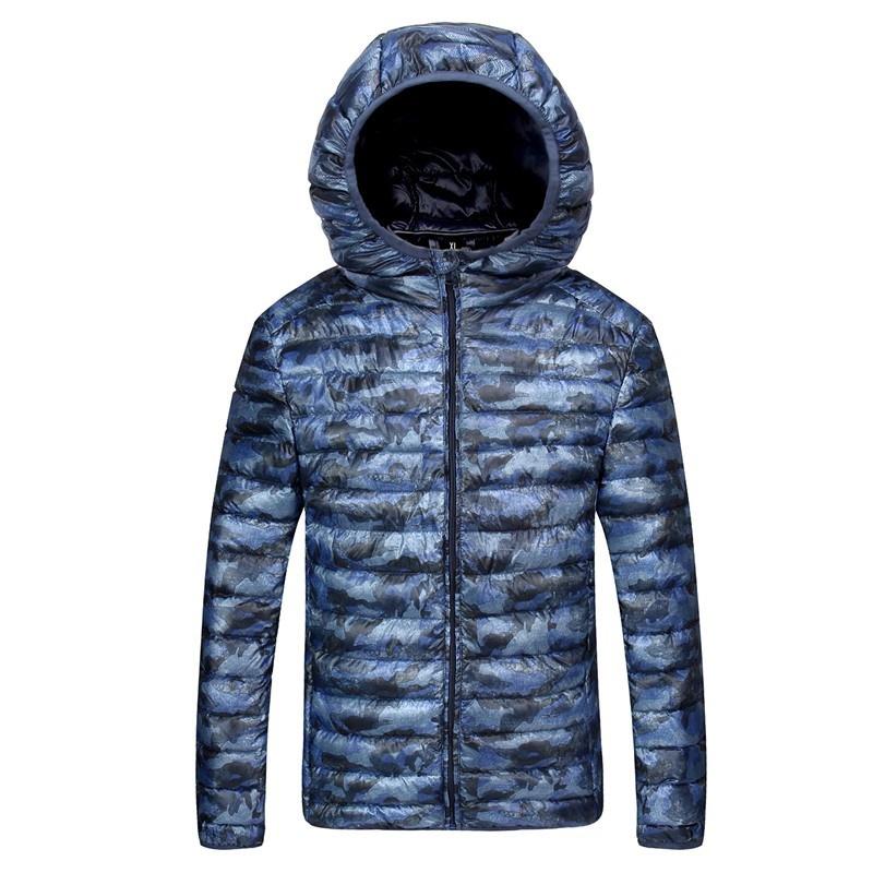 2018 Winter New Thin Down Jacket Short Section Men's Hood Down Jacket Men's Slim image 5