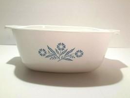 Corning Ware Blue Cornflower 1 1/2 quart Casserole Dish P- 1 1/2-B Vintage  - $10.99