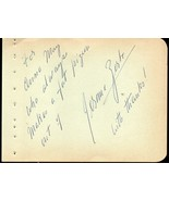 "JEROME ZERBE Autograph signed on album page. Famed photographer ""paparazzo"" - $49.50"
