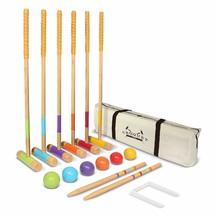 GoSports Six Player Croquet Set for Adults & Kids - Modern Wood Design - $148.83