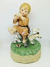 1992 Schmid Little Francis Music Box Figurine Peace Prayer Collection - $23.38