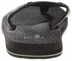 NEW Sanuk Men's Black Beer Cozy Thong Flip-Flop Beach Sandals Slippers 1174140 image 5