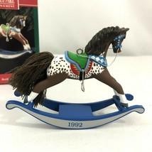 Hallmark Keepsake Ornament Rocking Horse 1992 Twelfth in the Series - $17.19