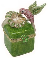 Hummingbird Jeweled Trinket Box with SWAROVSKI Crystals, #2 - $29.95