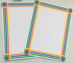 vintage stationery blank cards rainbow color decorated edge plain envelo... - $19.75