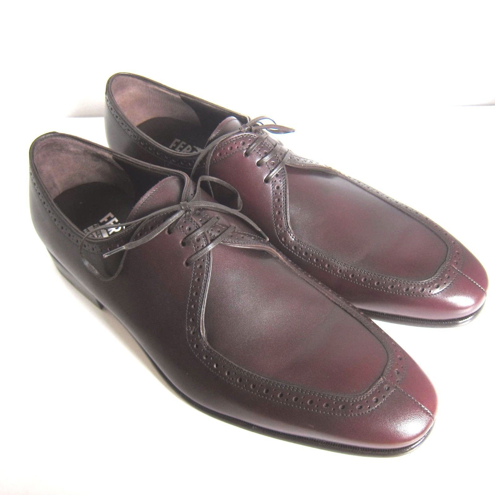 319031deff7e C-1395252 New Salvatore Ferragamo Nikel Leather Oxfords Shoes Size US 10 EE  -  289.99