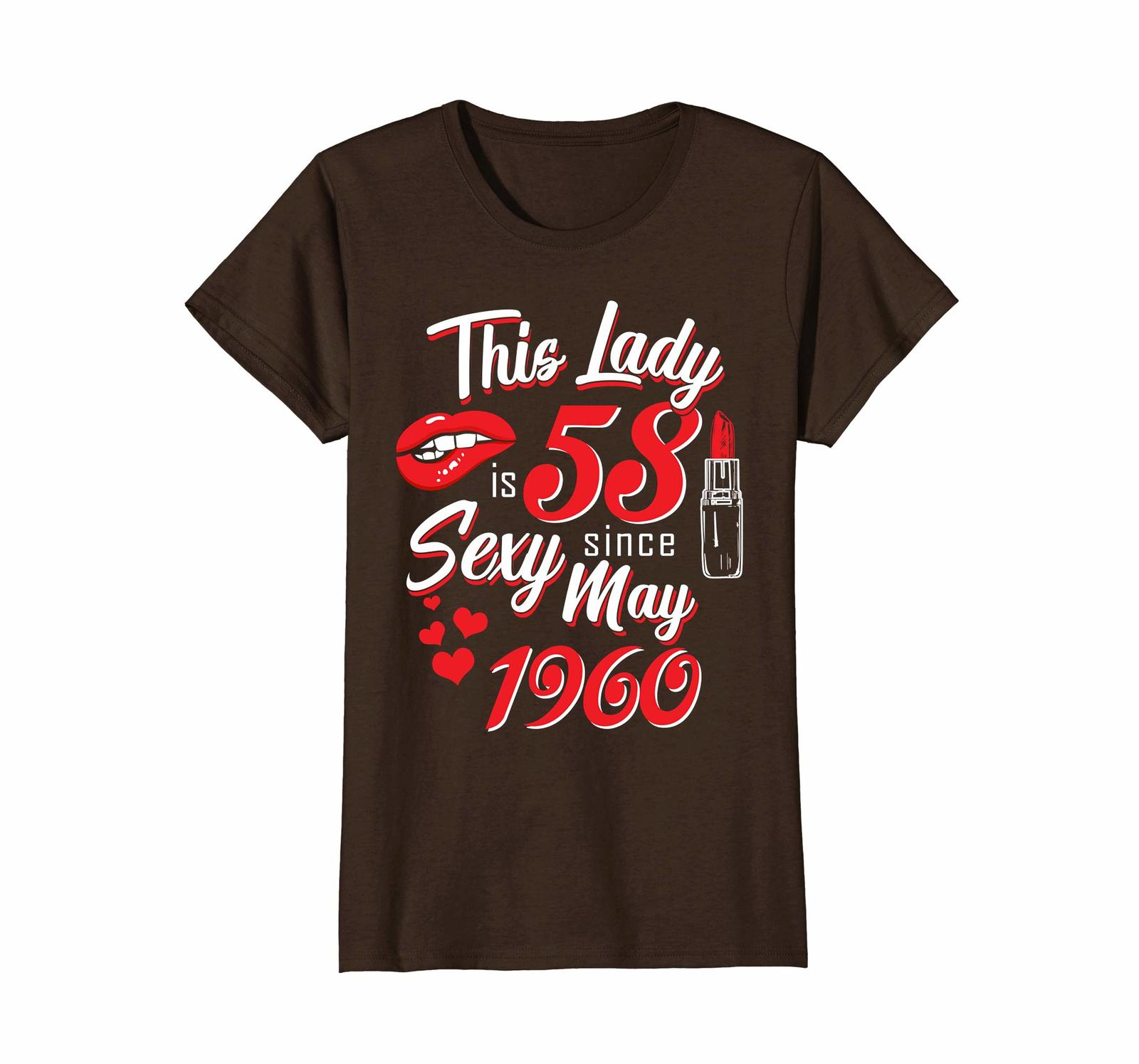 Funny Shirts - Vintage May 1960 58th Birthday Gift 58 yrs This Lady Awesome Wowe
