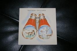 Vintage Birthday Card Hunting Dog Ducks Binoculars Hallmark Hall Brothers Inc. - $7.00