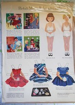 Vintage 1953 Betsy McCall Magazine Paper Doll Tea Party - $9.85