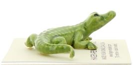 Hagen-Renaker Miniature Ceramic Figurine Alligator Green