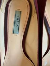 EUC PRADA Suede Wine Purple Pumps 2'' Heel Made in Italy image 2
