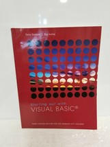 STARTING OUT WITH VISUAL BASIC 3RD CUSTOM EDITION - GADDIS & IRVINE - $46.46