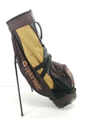 Primary image for Vintage Taylormade Golf Cart Bag 4 Divider Gold Black