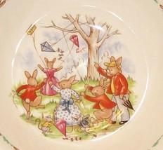 Royal Doulton Bunnykins- Child's Cereal Bowl -Flying Kites - SF133 VGUC - $6.95