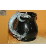 "Deneen Pottery folk art Mug 95 PG figural Lizard handle 4.25"" St Paul cu... - $62.99"