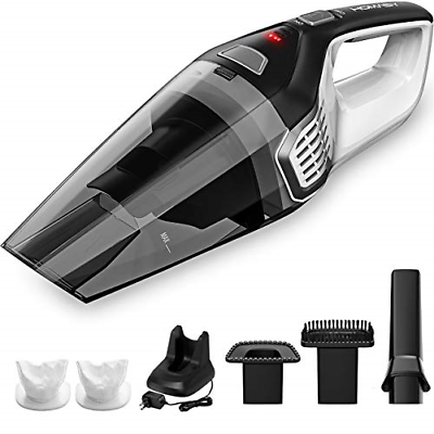 homasy portable handheld vacuum cleaner cordless powerful cyclonic suction with vacuum cleaners. Black Bedroom Furniture Sets. Home Design Ideas