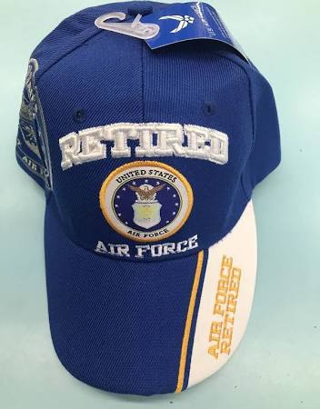 Primary image for US Air Force Retired w/Shadow AF Emblem on a Blue/white ball cap