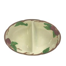 "Vintage Franciscan Apple Divided Oval Serving Bowl Made In Ca. USA 11"" U14 - $13.97"