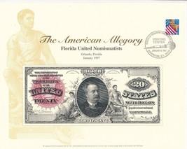 AMERICAN ALLEGORY 1886 $20 SILVER CERTIFICATE TRIBUTE-IN ENVELOPE-SHIPS ... - $16.95