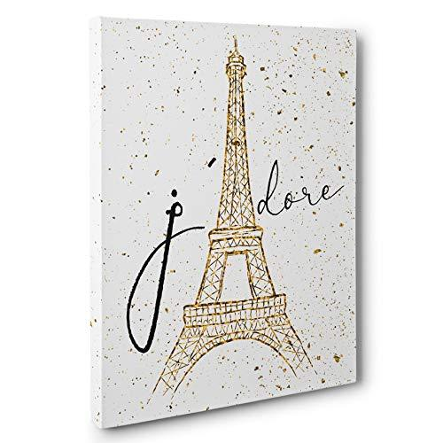 Primary image for J' Adore Eiffel Tower Canvas Wall Art