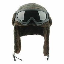 Winter Bomber Earflap Russian With Goggles Male Camouflage Thermal Berbe... - $16.81+
