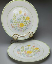 "Vintage Set of 2 Vintage Meadow Corelle by Corning Salad Plates 10.25"" EUC  - $16.99"