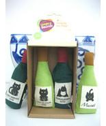 Leaps & Bounds  4 Catnip Wine Bottle Toys - $9.89