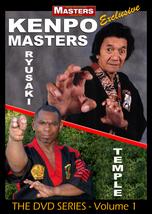 Kenpo Karate Masters #1 Instructional DVD Bill Ryusaki, Robert Temple - $29.95