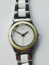 "Swatch Irony ""White Ceramic"" quartz movement family watch - $38.10"