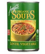 Amy's Organic Lentil  Vegetable Soup, 14.5 oz Can, Case of 12 vegan - $56.99