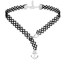 ELBLUVF Alloy Handmade Black Velvet Anchor Infi... - $5.99