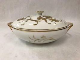 """Vintage H&Co. Bavaria Germany Heinrich """"Golden Orchid"""" Covered Serving Dish - $70.28"""