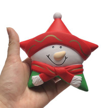 Christmas Star Anti-Stress Relief Squeeze Squishy Slow Rising Toy Birthday Gift - $3.69